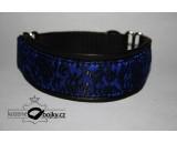 Brocade blue/black