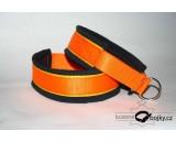 Drawstring collar SIMPLE - orange